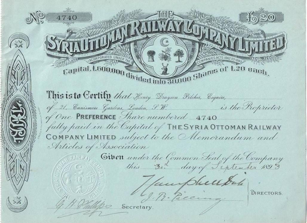 Syria Ottoman Railway Company Limited